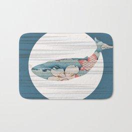 Whales and Polka Dots Bath Mat