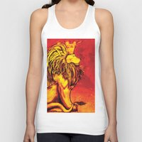 the lion king Tank Tops featuring Lion King by RICHMOND ART STUDIO