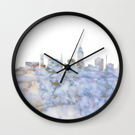 Lincoln Nebraska Skyline Wall Clock