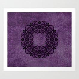 Circle in Purple Art Print