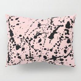 Splat Black on Blush Pillow Sham