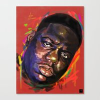 notorious Canvas Prints featuring Notorious  by Tetevi Teteh