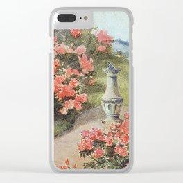 beautiful flower garden watercolour Clear iPhone Case