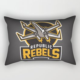 Republic Rebels - Black Rectangular Pillow