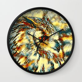 AnimalArt_Owl_20170917_by_JAMColorsSpecial Wall Clock