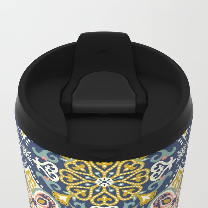 Mosaic Metal Travel Mug