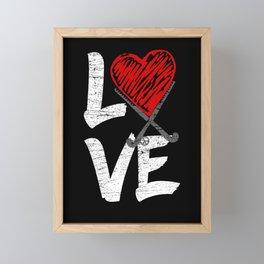 I LOVE Field Hockey player gift idea Framed Mini Art Print