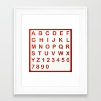alphabet Framed Art Prints featuring Alphabet by Sébastien BOUVIER