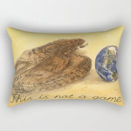 This is not a game by Jacques Lajeunesse Rectangular Pillow