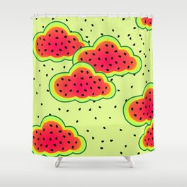 Watermelon Clouds Design Shower Curtain