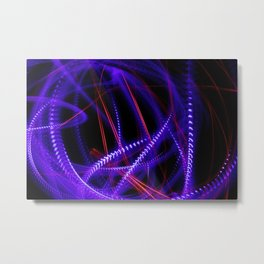 Abstract blue and red light effect Metal Print