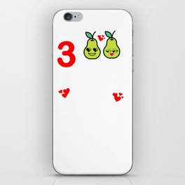 3rd Wedding Anniversary Great Pear Marriage Design iPhone Skin