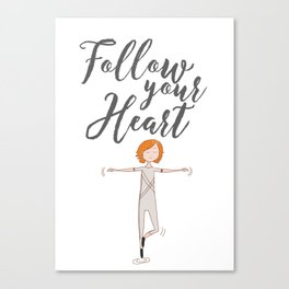 Follow your heart | Art wall | Dancer boy | dreams Canvas Print
