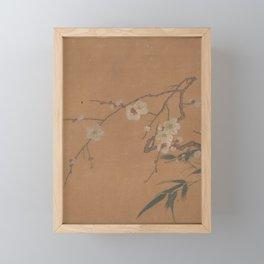 Flowering Plum and Bamboo Framed Mini Art Print