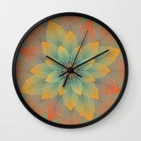 lotus Wall Clocks featuring Lotus by HK Chik