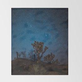 Midnight Stars at Joshua Tree Throw Blanket