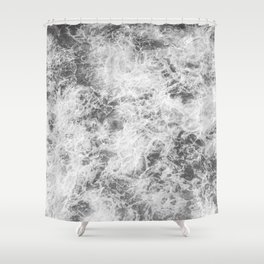 Black and white abstract pattern. waves Shower Curtain