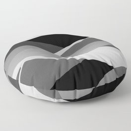Gray and Pewter Waves Floor Pillow