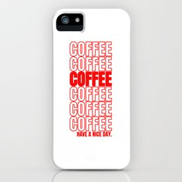 Coffee Gift Cappuccino Macchiato Espresso iPhone Case