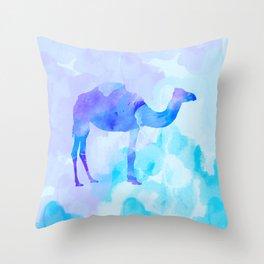 Abstract Camel Throw Pillow