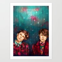 tegan and sara Art Prints featuring Tegan & Sara by Miriam R. Kent