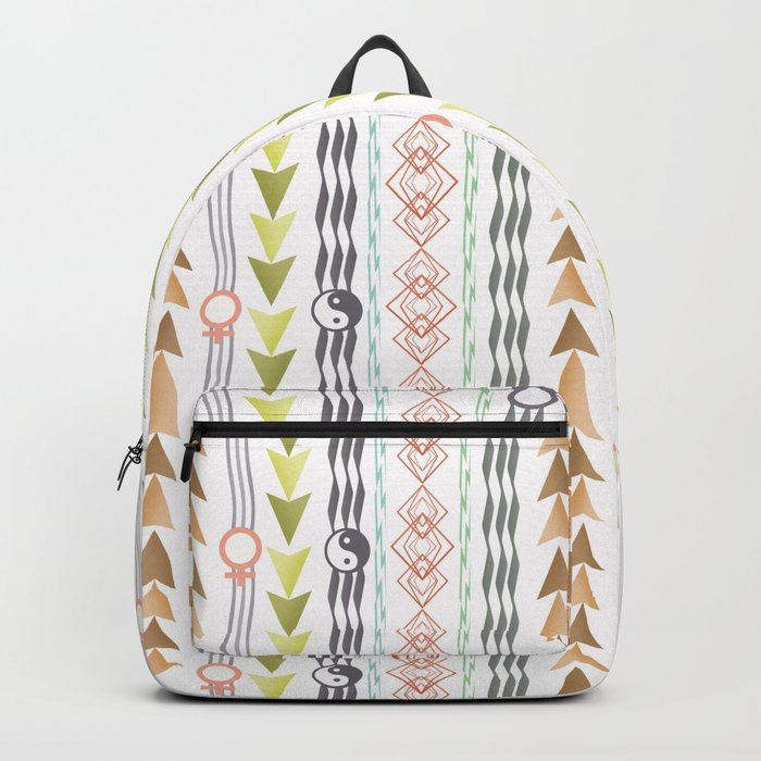 Abstract ethnic pattern. Backpack