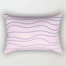 Wavy lines on the tender pink backgorund textile print Rectangular Pillow