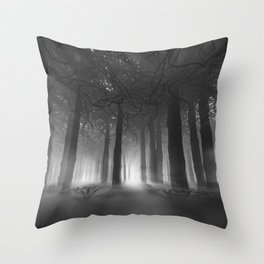 Soul of the Forest B&W Throw Pillow