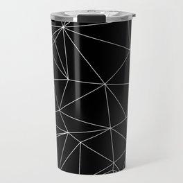 Geometric Black and White Minimalist Pattern Travel Mug