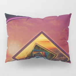 Bridge of a Thousand Colors, a Beautiful Rainbow Fractalscape Pillow Sham