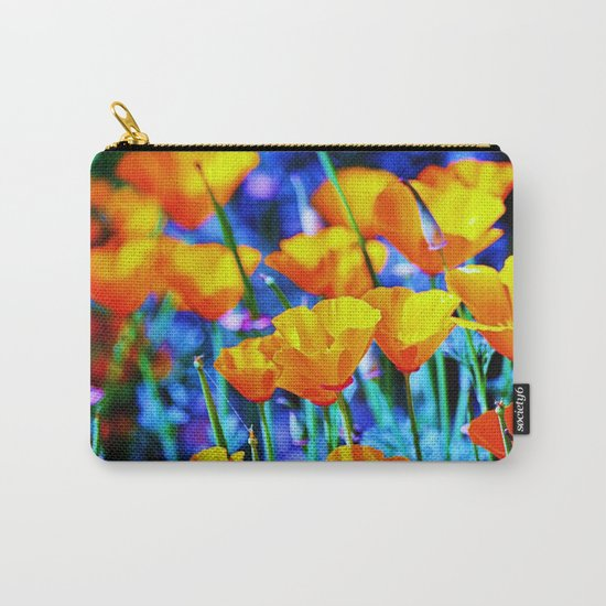 The Poppy Field. © J. Montague. Carry-All Pouch