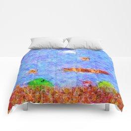 Super Mario Bros World 1-1 Impressionist Painting Comforters