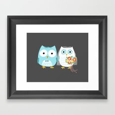 Owls Wedding Day Framed Art Print