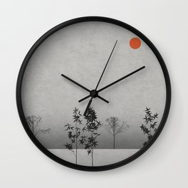 Landscape with Trees Wall Clock