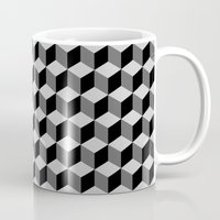 escher Mugs featuring Escher by Adikt