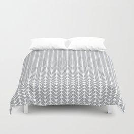 Light gray knitted pattern Duvet Cover