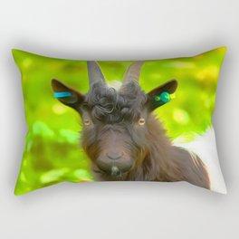 Goat Art For Animal Lover Rectangular Pillow