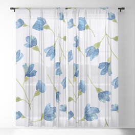 Floral pattern 8 Sheer Curtain