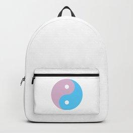 Transgender Yin Yang Symbol Backpack