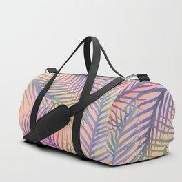 Palm Leaves Pattern - Purple, Peach, Blue Duffle Bag