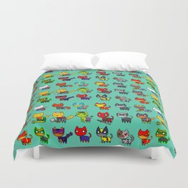 Avenging Cats Duvet Cover