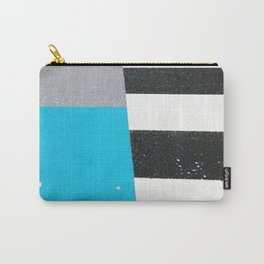 Blue Crossing Graphic Illustration of an Urban Street Photography in Japan Carry-All Pouch