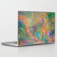 circles Laptop & iPad Skins featuring Circles by Klara Acel