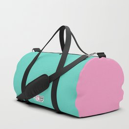 2C - teal and pink Duffle Bag