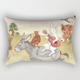 Pasture Music Rectangular Pillow