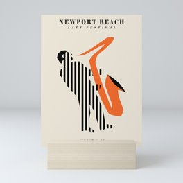 Vintage poster-Jazz festival-Newport beach 1. Mini Art Print