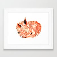 rubyetc Framed Art Prints featuring fox by rubyetc