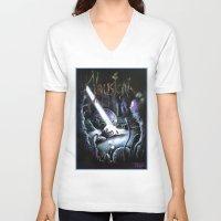 hayao miyazaki V-neck T-shirts featuring Nausicaä, Tribute to Hayao Miyazaki by Don Giancarli