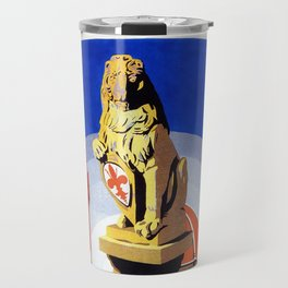 Florence Firenze travel, lion statue Travel Mug