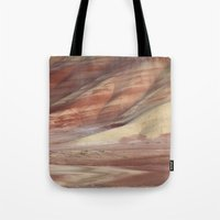 minerals Tote Bags featuring Hills Painted by Earth Minerals by Leland D Howard